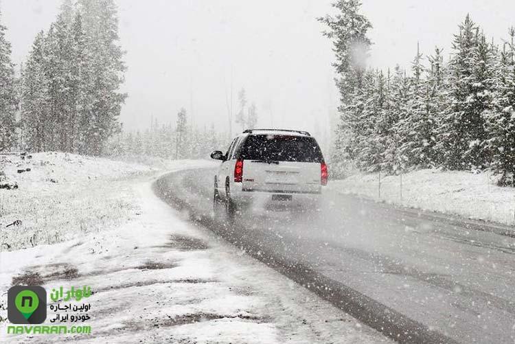 در هنگام رانندگی در زمستان و سربالایی سرعت ممنوع