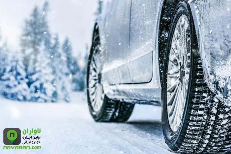 رانندگی در هوای برفی