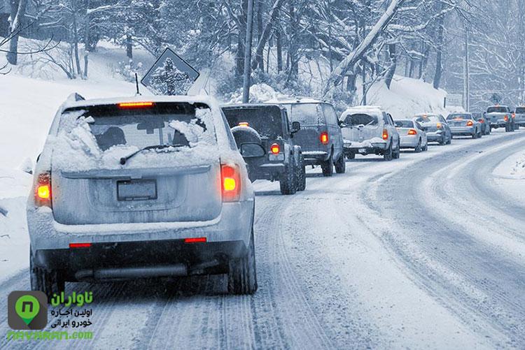حفظ فاصله مناسب با خودرو جلویی در هنگام رانندگی در سمتان