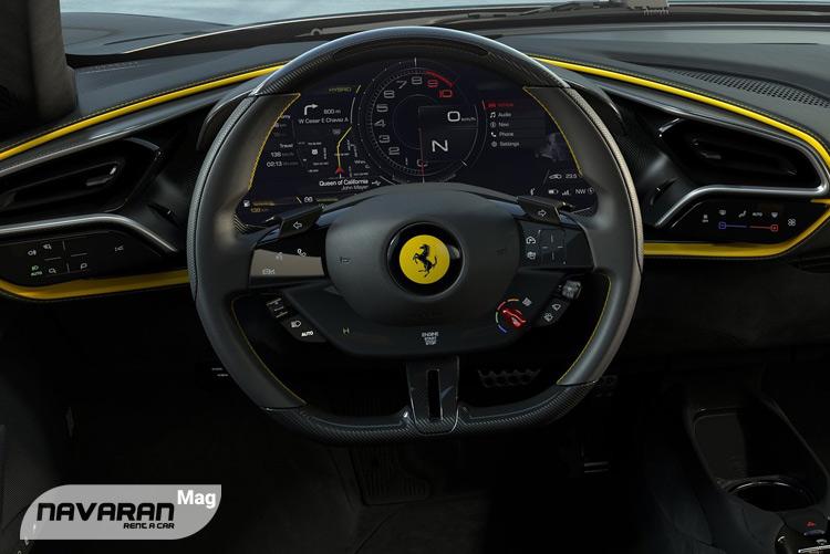 تصویر داشبورد خودرو فراری 2022