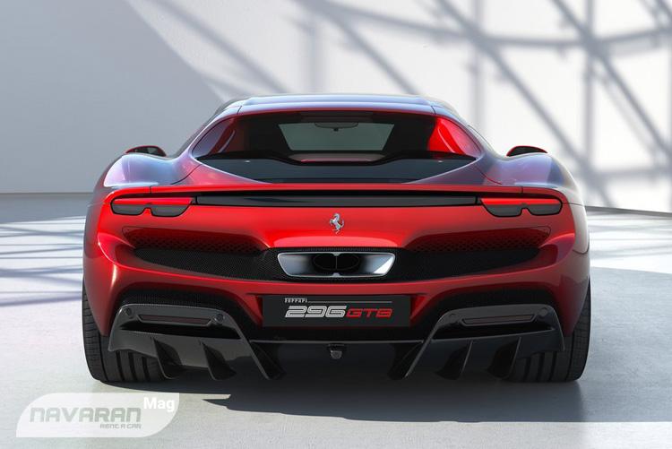 تصویر عقب خودرو جدید فراری 2022