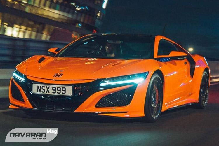 خودرو هوندا NSX در رنگ نارنجی